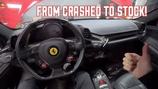 My WRECKED Ferrari 458 has a FINISHED Interior!