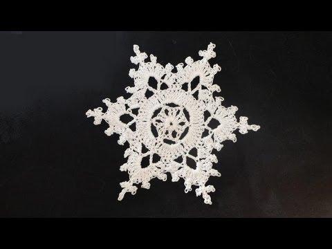 How To: Crochet Snowflakes - YouTube