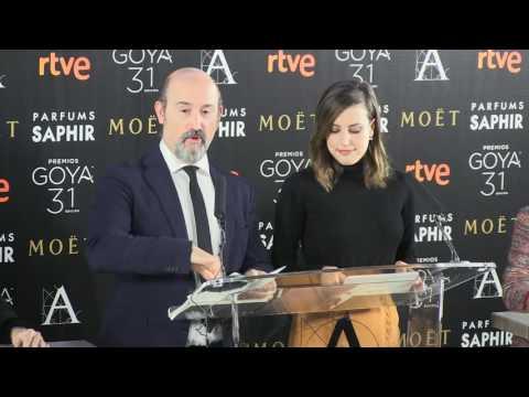 Lectura nominaciones #Goya2017