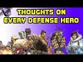 Honest Thoughts on Every Defense Hero - Overwatch Opinion Edition