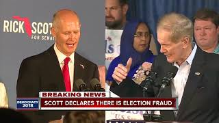 Florida Governor Rick Scott claims election fraud, orders law enforcement investigation