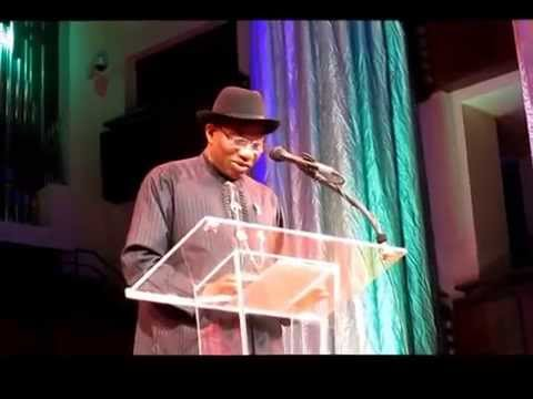 Nigerian President Goodluck Jonathan address at the Kennedy Center