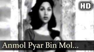 Anmol Pyar Bin Mol Bikhe - Badal 1951 Song - Madhubala - Poornima - Prem Nath - Lata Mangeshkar -