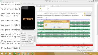 How to flash Huawei Y520 u22 with Sp flash tool?