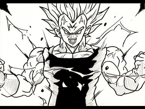 Dragon Ball z Majin Vegeta Drawing How to Draw Majin Vegeta