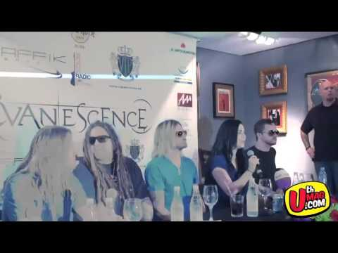 Evanescence on Press Conference Hard Rock Cafè (Dubai 2012)