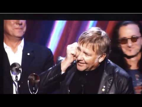 Rush Guitarist Accepts R&R Hall of Fame In Strange Speech