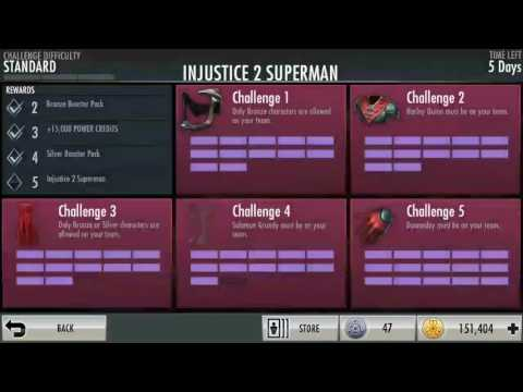 INJUSTICE VIDEO PAST CHALLENGE PACK AND NEW SUPERMAN
