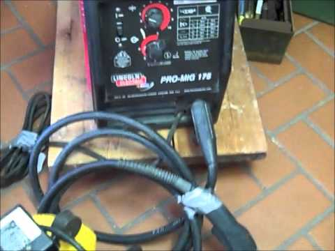 Lincoln Electric Pro Mig 175 Welding Machine Youtube