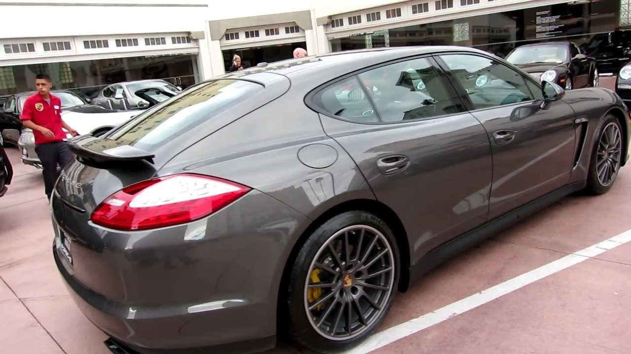 2013 Porsche Panamera GTS Agate Grey GT Silver Alcantara