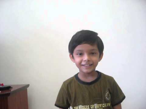 Gananayakaya Ganadaivataya ..... Song - By Atharva Balvalli. (5yrs Old) video
