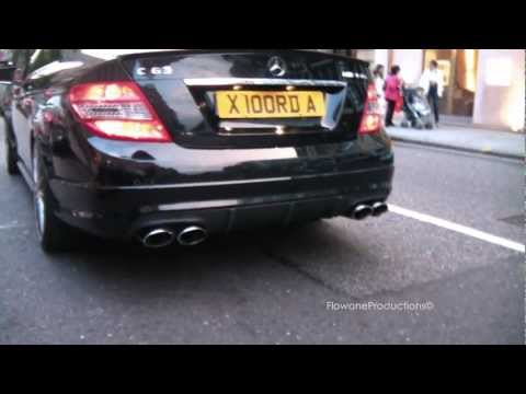 De-catted Mercedes C63 AMG - Rev + sound - 1080p HD