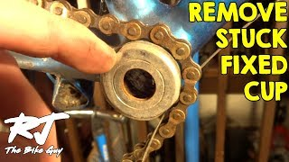 How To Remove A Stuck Fixed Cup From Bike Bottom Bracket