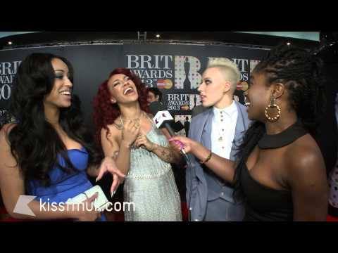Stooshe at the 2013 BRITs with KISS FM (UK)