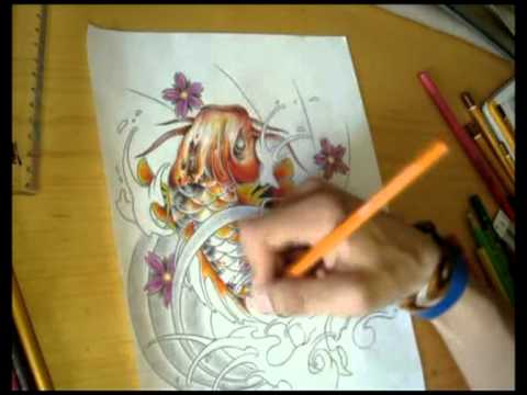 Koi Fish Dragon Drawing at GetDrawings.com | Free for ...
