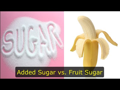 Are added sugar (industrial) and fruit sugar (fructose) the same?