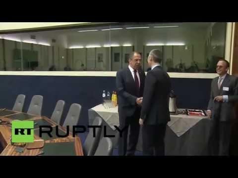 Belgium: Russian FM Lavrov meets NATO chief Jens Stoltenberg