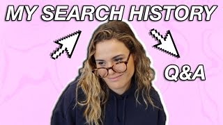 GOING THROUGH MY SEARCH HISTORY | Answering Your Questions | AYYDUBS