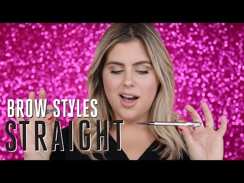 BROW STYLE TUTORIAL | how to create straight brows