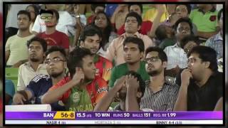 Deadly bowling by Stuart Binny  Took 6 Wickets for 4 Runs against Bangladesh   Cricket