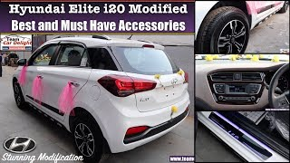 Modified Elite i20 with Accessories | Best and Must Have Accessories List for i20 | i20 Alloys