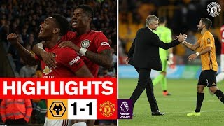 HIGHLIGHTS  Wolves 1-1 United  Reds frustrated in Molineux draw  Premier League