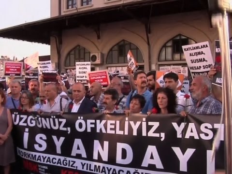 Raw: Protest in Turkey After Airport Attack