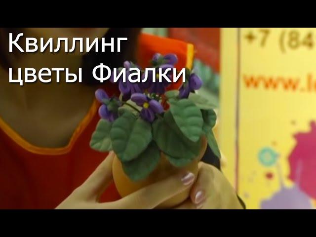Квиллинг цветы Фиалки - видео мастер-класс