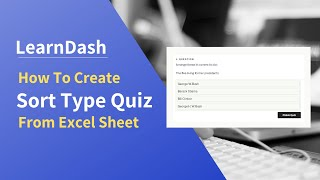 How to create image based sort type quiz in LearnDash easily