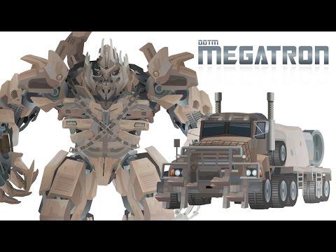 Megatron  (dotm) - Transform Short Flash Transformers Series video