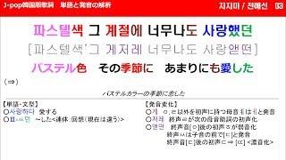 전혜선 / 지지마<原曲:ZARD「負けないで」>【J-pop韓国語版歌詞 日本語超直訳&単語と発音の解析】