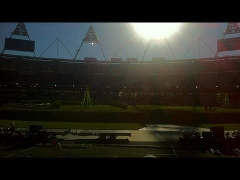 London 2012 Opening Ceremony - First Public Technical Rehearsal - The Olympic Stadium Set