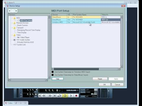 Cubase 5 Video Tutorial - Setting up your MIDI devices to work with Cubase