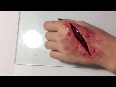 Как сделать РАНУ на руке.Кровавый порез.
