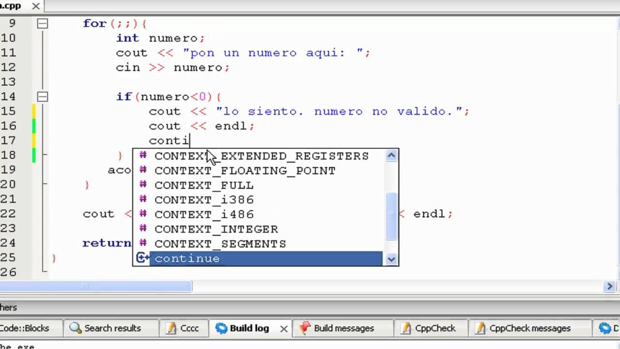 Tutorial de C++ en Español -24- El Comando Continue - YouTube