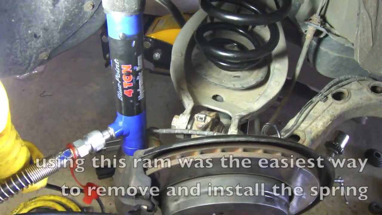 Diy How To Remove Bmw E46 Rear Springs Youtube