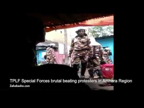 TPLF Special Forces Brutal Beating Protesters In Amhara Region