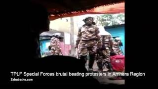 Ethiopian security forces brutally beating protesters in Amhara Region