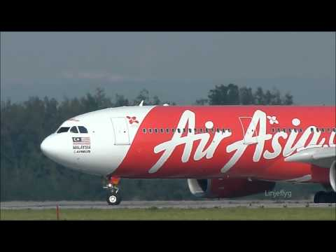 Sights and Sound of Air Asia X Airbus 330-343X