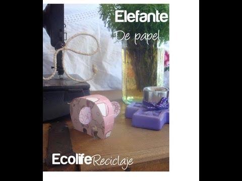 Como hacer un elefante de papel MANUALIDADES