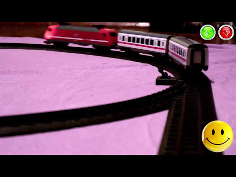 VIDEO FOR CHILDREN – «City Train» Dickie Toys, Railway with Red Toy Model Passenger Train.