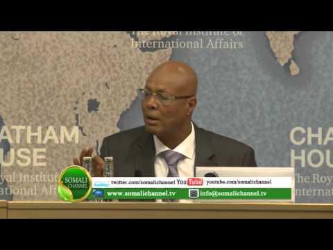 RW Soomaaliya Cabdiweli Sh Axmed oo ka hadlay Chatham House UK 17 09 2014