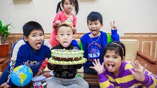 Kids Go To School | Birthday Of Chuns Friends Learn To Make Birthday Cake Beautiful Animals 2