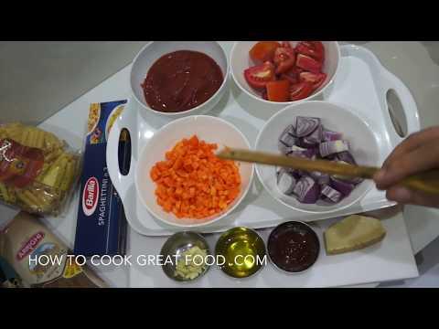 ★★ Spaghetti & Tomato Sauce For Kids Recipe - Healthy Food for Children Tricks