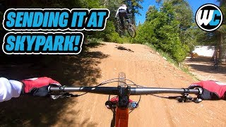 Hero Dirt, Sketchy Back Flips & No Work - Vital MTB Ditch Day At SkyPark