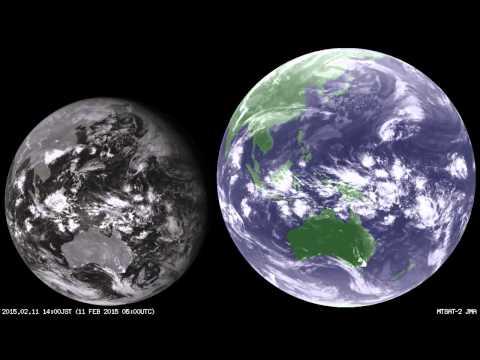 """Meteorological Satellites """"Himawari"""" Satellite imagery Full Disk - February 2015"""