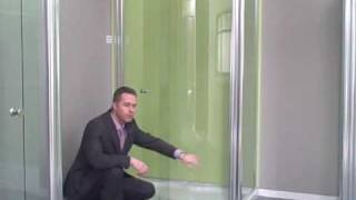 UniArc frameless glass doors enclosure and tray