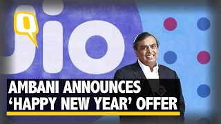 The Quint: Mukesh Ambani Announces 'Happy New Year' Offer and 'Jio Money'