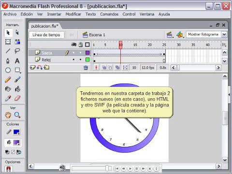 (curso macromedia flash 8) 34-Publicar una Película