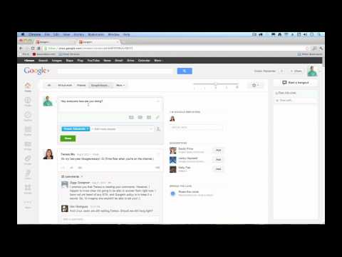 Google Plus / Google+ Tutorial for Beginners 2012